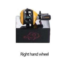 Baitcasting Fishing Reel Bearings Fishing Gear Water Drop Wheel black Right Hand