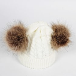 Beanies Baby Hat Pompon Winter Children Hat Knitted Cute Cap b5 one size