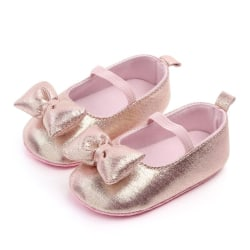 Boy Girl Baby Moccasins Shoes Bow Fringe Soft Soled Non-slip pink 13