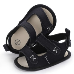 Boys Girls Cute Shoes Sandals Summer Soft Anti-skid Shoes Black S