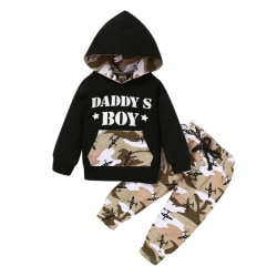 Boys Outfits Child Hooded Sweater+Camouflage Pants Sports Suit A S