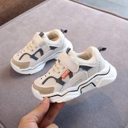 Fritidsskor Trendiga PU läder pojke flicka sportsneakers