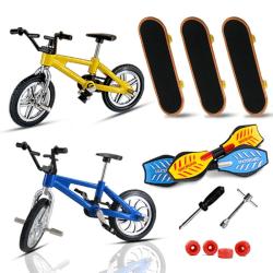 Children Finger Skateboards & Bikes Cute Birthday Gift For Kids random color 4kinds