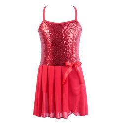 Children Kids Girl Fashion Concise Ballet Costume Chiffon Sequin red xxl