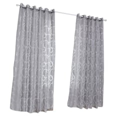Circle Bubble Scissors Window Living Room Jacquard Curtain ah