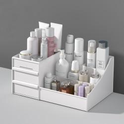 Cosmetic Storage Box Makeup Women Desktop Sundries Box white