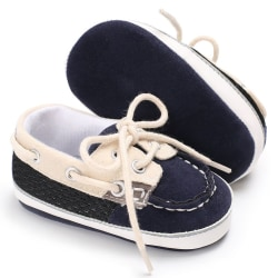 Cotton Canvas Shoes Infant Sneaker Baby Boy Toddler First Walker dark blue 0-6 months