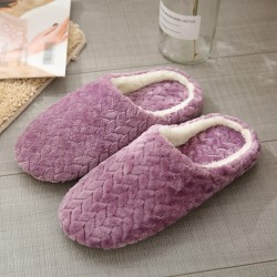 Cotton Slippers Suede Non-slip Cotton Slippers Jacquard Bottom