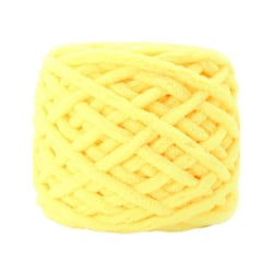 Crochet Polyester Cicle Line Middle Coarse Wool Woven Scarf yellow 45m long