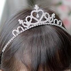 Crystal Tiara Hairband Kid Girl Bridal Princess Prom Crown Party
