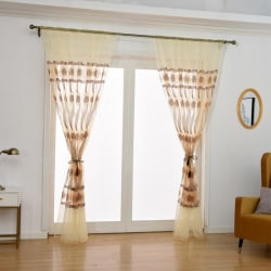 Elegant Romantic Bedroom Living Room Curtain yellow 2*1.4