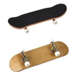 Finger Skateboard Toy Novelty Wood Finger Skateboard Toys white
