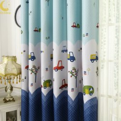 French Bay Window Printed Curtain l 3*2.6 Grommet Top
