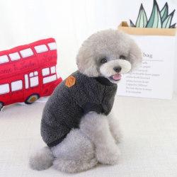 French Bulldog Pullover Dog Clothing Warm Fleece Pet Dog Clothe gray 2xl