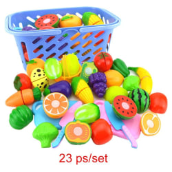 Fruit Vegetables Cutting Toy Kids Kitchen Education Toy a one,size