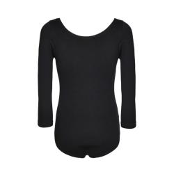 Girls Black Ballet Dress Dancewear Long Sleeve Leotards Black XL