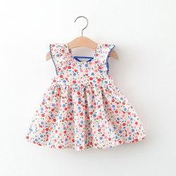 Girls Dress Girls kids clothesFashion Sweet Cloth red XL(3-4Y)