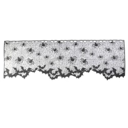 Halloween Lovely Lace Spiderweb Mantle Scarf Cover Curtains a1 light cover