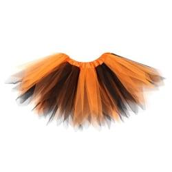 Handmade Knit Children Tutu Skirt Mixed Colors Girls Princess orange black 8