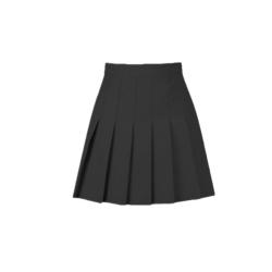 High Waist Women Pleated Skater Short Skirt Mini Slim Skirts black S