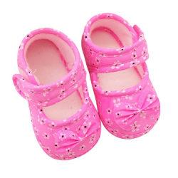 Spädbarn Kid Pre Walking Shoes Bow Flower Småbarnskor Baby