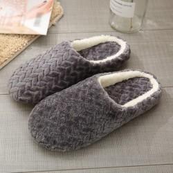 Jacquard Soft Bottom Cotton Slippers Suede Non-slip Slipper