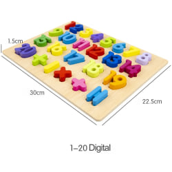 Kids Early Educational Toys Baby Wooden Puzzle Toy 0-20 numbers