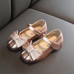 Barn Princess skor läder sandaler Hoolow Out Bow skor