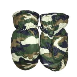 Kids Winter Camouflage Waterproof Warm Skate Snowboarding Gloves