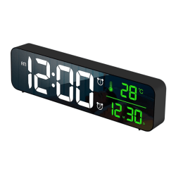 LED Digital Alarm Clocks Bedrooms Bedside Digital Clock Black