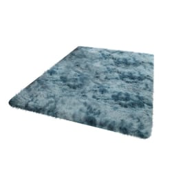 Long Plush Area Rug Washable Non-Slip Decorative Floor Mat Room blue6 120x200