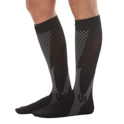 Men Women Leg Support Stretch Outdoor Sport Long Socks black XXL