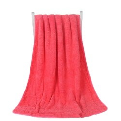 Multi-Color High Towel Bath 70*140cm Absorbent Soft Ultra Fleece rose red M