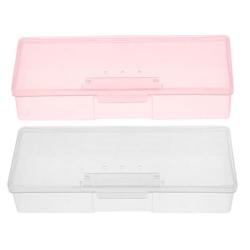 Nail Art Supplies Tools Storage Box Buffer Files Push Grinding pink