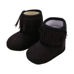New Newborn Warm Boot Autumn Winter Slip-On Baby Boots Black S