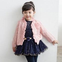 New Princess Baby Girls Coat+T-shirt+Tutu Skirt Pink Clothes pink