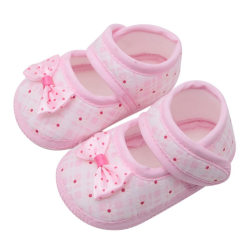 Newborn baby girl shoes cute bow Princess children slip shoes pink 13-18 months