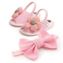 Newborn Baby Girls Sandal Shoes Cute Flower Breathable Anti-Slip