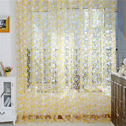 Nice Balcony Curtain Panel Valance Tulle Window Screens Door yellow