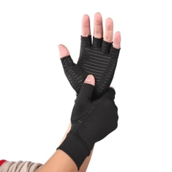 One Pair of Half Finger Comfort Cycling Gloves black M