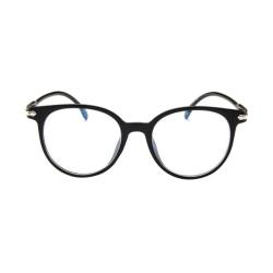 Oval solid color women's glasses Retro fashion Women glasses bright black