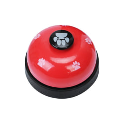 Pet Call Bell Dog Ball-Shape Paw Printed Meal Feed Educational red xs