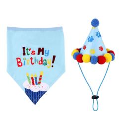 Pet Cat Dog Birthday Headwear Bandana Hat Party Costume