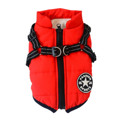 Pet Dog Winter Warm Vest Coat for Small Medium Dogs red S