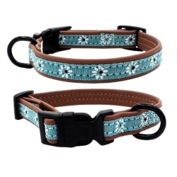 Pet Shaped Ring For Leash Dog Adjustable Neck Strap For Walking light blue m