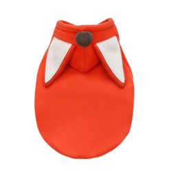 Pet Warm Fleece Clothing Pet Fox Frog Cosplay Costume Pet Outfit red S M