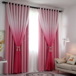 Polyester Gradient Colors High Shading Curtain Tulle Curtain p