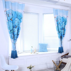 Punch Hook High Shading Deep Forest Digital Printing Curtain as show 2*2.6 Grommet Top
