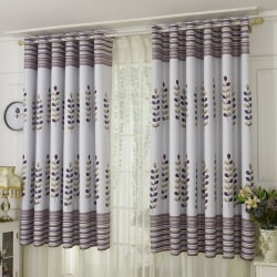 Punching Cartoon Sunshade Home Curtain brown Grommet Top