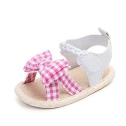 Sandals for Girls Baby Shoes Newborn Summer Cotton Lattice Shoe